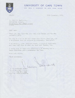 Autographs: CHRISTIAAN BARNARD - COLLECTION