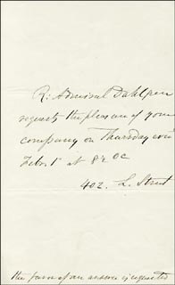 REAR ADMIRAL JOHN A. DAHLGREN - THIRD PERSON AUTOGRAPH LETTER