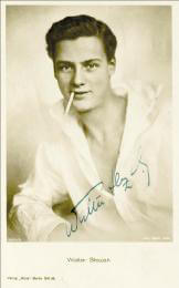 WALTER SLEZAK - PICTURE POST CARD SIGNED