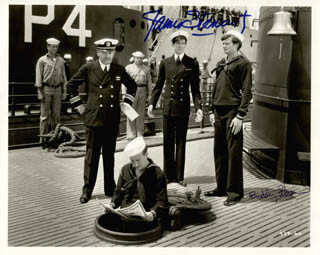 BORN TO DANCE MOVIE CAST - AUTOGRAPHED SIGNED PHOTOGRAPH CO-SIGNED BY: JAMES JIMMY STEWART, BUDDY EBSEN
