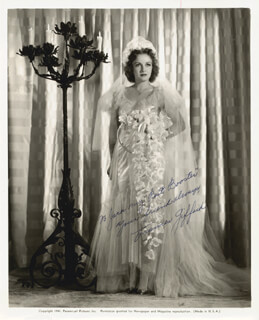 FRANCES GIFFORD - INSCRIBED PRINTED PHOTOGRAPH SIGNED IN INK