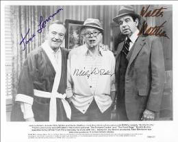 THE BUDDY BUDDY MOVIE CAST - PRINTED PHOTOGRAPH SIGNED IN INK CIRCA 1981 CO-SIGNED BY: JACK LEMMON, WALTER MATTHAU, BILLY WILDER