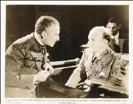WITCHING HOUR MOVIE CAST - AUTOGRAPHED INSCRIBED PHOTOGRAPH 10/08/1936 CO-SIGNED BY: WILLIAM FRAWLEY, JOHN HALLIDAY