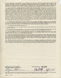 KIM NOVAK - DOCUMENT SIGNED 09/11/1962
