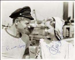 TUGBOAT ANNIE SAILS AGAIN MOVIE CAST - AUTOGRAPHED SIGNED PHOTOGRAPH CO-SIGNED BY: JANE WYMAN, PRESIDENT RONALD REAGAN