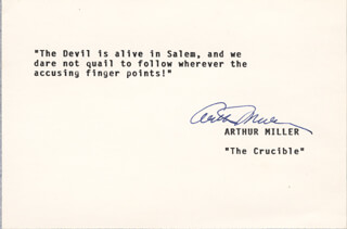 ARTHUR MILLER - TYPED QUOTATION SIGNED