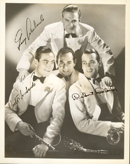 GUY LOMBARDO ORCHESTRA - AUTOGRAPHED SIGNED PHOTOGRAPH CO-SIGNED BY: GUY LOMBARDO ORCHESTRA (GUY A. LOMBARDO), GUY LOMBARDO ORCHESTRA (VICTOR LOMBARDO), GUY LOMBARDO ORCHESTRA (LEBERT LOMBARDO)