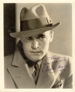 CHESTER MORRIS - AUTOGRAPHED INSCRIBED PHOTOGRAPH 1936