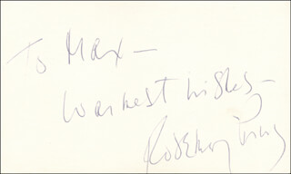 ROSEMARY PRINZ - AUTOGRAPH NOTE SIGNED