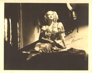 VIRGINIA BRUCE - AUTOGRAPHED SIGNED PHOTOGRAPH