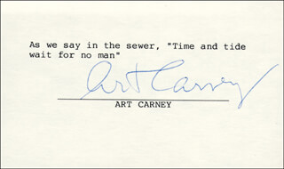 ART CARNEY - TYPED QUOTATION SIGNED