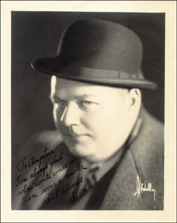 ROSCOE FATTY ARBUCKLE - AUTOGRAPHED INSCRIBED PHOTOGRAPH