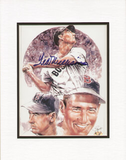 TED WILLIAMS - ILLUSTRATION SIGNED