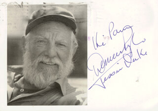 DENVER D. PYLE - INSCRIBED POST CARD SIGNED CIRCA 1981