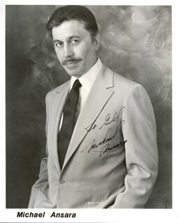 MICHAEL ANSARA - AUTOGRAPHED INSCRIBED PHOTOGRAPH