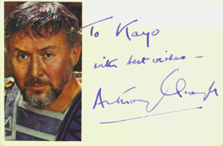 SIR ANTHONY QUAYLE - AUTOGRAPH NOTE SIGNED