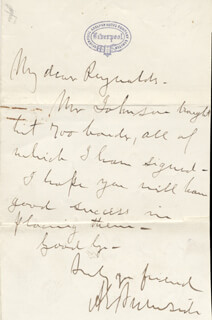 Autographs: MAJOR GENERAL AMBROSE E. BURNSIDE - AUTOGRAPH LETTER SIGNED