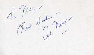 AL NESOR - AUTOGRAPH SENTIMENT SIGNED