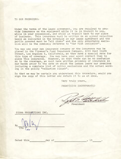 OTTO PREMINGER - DOCUMENT SIGNED CO-SIGNED BY: ROBERT GOTTSCHALK