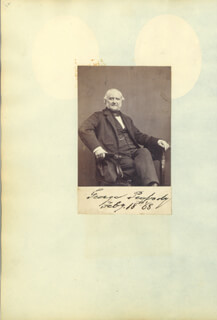 GEORGE PEABODY - PHOTOGRAPH MOUNT SIGNED 02/18/1868