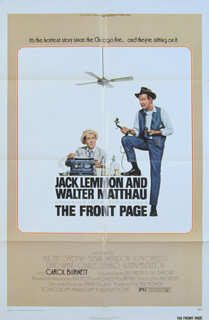 THE FRONT PAGE MOVIE CAST - POSTER UNSIGNED 1974