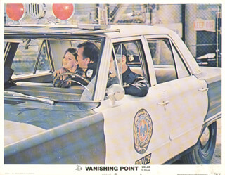 VANISHING POINT MOVIE CAST - LOBBY CARD UNSIGNED (USA) 1970