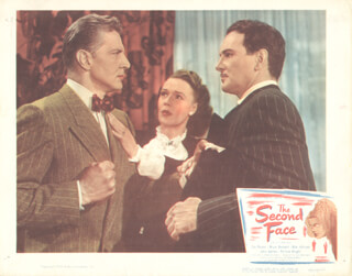 SECOND FACE MOVIE CAST - LOBBY CARD UNSIGNED (USA) 1950