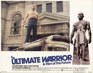 ULTIMATE WARRIOR MOVIE CAST - LOBBY CARD UNSIGNED (USA) 1975
