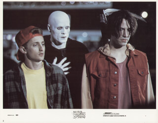 BILL & TED''''S BOGUS JOURNEY MOVIE CAST - LOBBY CARD UNSIGNED (USA) 1991