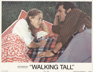 WALKING TALL MOVIE CAST - LOBBY CARD UNSIGNED (USA) 1973