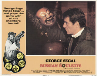 RUSSIAN ROULETTE MOVIE CAST - LOBBY CARD UNSIGNED (USA) 1975