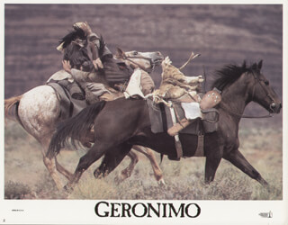 GERONIMO MOVIE CAST - LOBBY CARD UNSIGNED (USA) 1993
