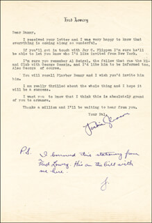 JACKIE THE GREAT ONE GLEASON - TYPED LETTER SIGNED