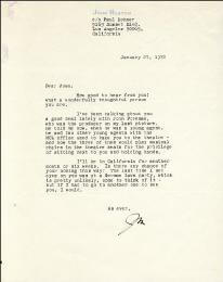 JOHN HUSTON - TYPED LETTER SIGNED 01/27/1972
