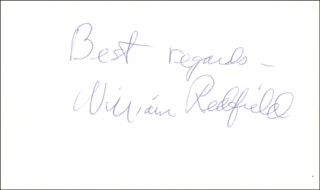 WILLIAM REDFIELD - AUTOGRAPH SENTIMENT SIGNED