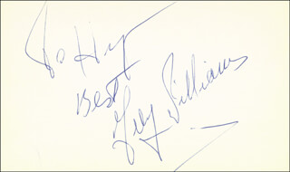 GUY WILLIAMS - AUTOGRAPH NOTE SIGNED