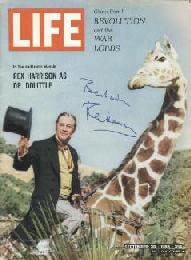 REX HARRISON - MAGAZINE COVER SIGNED