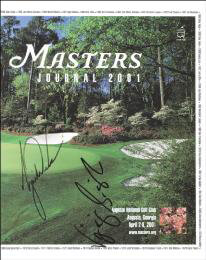 TIGER WOODS - PROGRAM SIGNED CIRCA 2001 CO-SIGNED BY: VIJAY SINGH