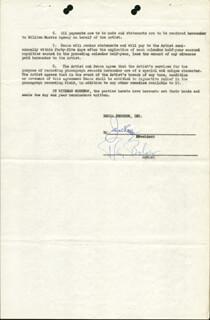 RAY BOLGER - DOCUMENT SIGNED 08/21/1946