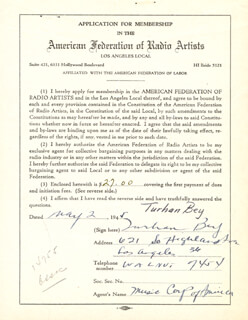 TURHAN BEY - DOCUMENT SIGNED 05/02/1945