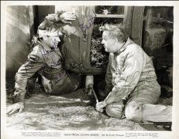 MAN FROM DOWN UNDER MOVIE CAST - AUTOGRAPHED INSCRIBED PHOTOGRAPH CIRCA 1943 CO-SIGNED BY: RICHARD CARLSON, CHARLES LAUGHTON