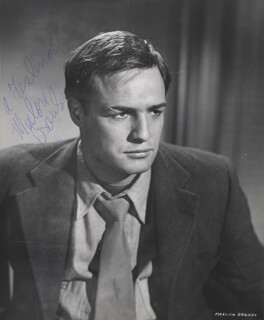 MARLON BRANDO - AUTOGRAPHED SIGNED PHOTOGRAPH