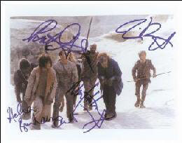 PLANET OF THE APES MOVIE CAST 2001 - AUTOGRAPHED SIGNED PHOTOGRAPH CO-SIGNED BY: HELENA BONHAM CARTER, MARK WAHLBERG, TIM BURTON, PAUL GIAMATTI