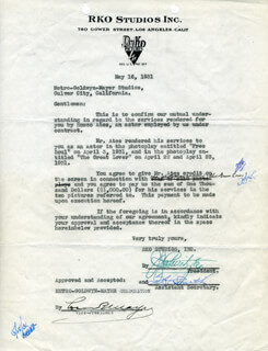 LOUIS B. MAYER - DOCUMENT SIGNED 05/16/1931