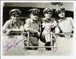 MR. ROBERTS MOVIE CAST - AUTOGRAPHED SIGNED PHOTOGRAPH CO-SIGNED BY: JACK LEMMON, HENRY FONDA