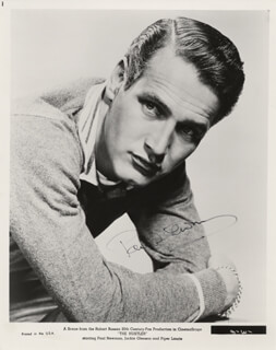 PAUL NEWMAN - PRINTED PHOTOGRAPH SIGNED IN INK