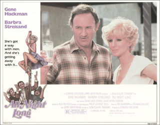 Autographs: ALL NIGHT LONG MOVIE CAST - LOBBY CARD UNSIGNED (USA) 1981