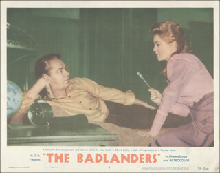BADLANDERS MOVIE CAST - LOBBY CARD UNSIGNED (USA) 1958