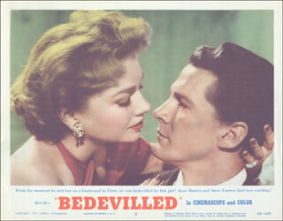 BEDEVILLED MOVIE CAST - LOBBY CARD UNSIGNED (USA) 1955