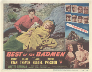 BEST OF THE BADMEN MOVIE CAST - LOBBY CARD UNSIGNED (USA) 1951